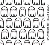 seamless pattern of cute ghosts ... | Shutterstock .eps vector #513511600