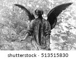 Bronze Statue Of An Angel In...