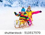 little girl and boy enjoying... | Shutterstock . vector #513517570