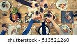 group of people cheers concept | Shutterstock . vector #513521260