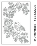 coloring book  twenty pages     ... | Shutterstock . vector #513522208