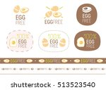 vector egg free  sign set | Shutterstock .eps vector #513523540