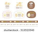 vector egg free  sign set | Shutterstock .eps vector #513523540