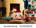 happy little kids in matching... | Shutterstock . vector #513525010