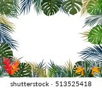 vector tropical jungle... | Shutterstock .eps vector #513525418