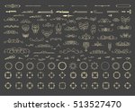 vintage decor elements and... | Shutterstock .eps vector #513527470