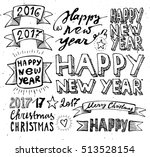 hand draw set christmas and... | Shutterstock .eps vector #513528154