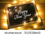 new year card with colorful... | Shutterstock . vector #513528643