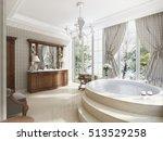 bathroom in luxury neo... | Shutterstock . vector #513529258