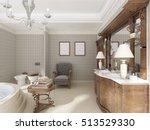 bathroom in luxury neo... | Shutterstock . vector #513529330