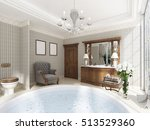 classic bathroom with luxury... | Shutterstock . vector #513529360