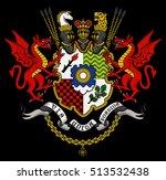 vector heraldic illustration in ... | Shutterstock .eps vector #513532438