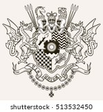 vector heraldic illustration in ... | Shutterstock .eps vector #513532450