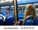 blurred image of a girl sitting ... | Shutterstock . vector #513537274
