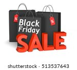 black shopping bags with the... | Shutterstock . vector #513537643