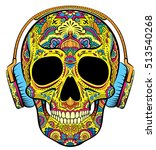 Vector Colorful Skull Graphics...