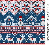 seamless pattern with ornaments ... | Shutterstock .eps vector #513542110