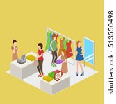 clothes store. shopping center...   Shutterstock .eps vector #513550498