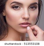 studio portrait of a beautiful... | Shutterstock . vector #513553108