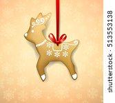 christmas homemade gingerbread... | Shutterstock .eps vector #513553138