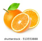 group of orange fruits isolated ... | Shutterstock . vector #513553888