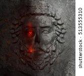 Dark 3d Model Of A Greek Man...