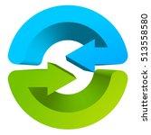 blue and green circular arrow... | Shutterstock .eps vector #513558580