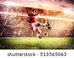 football game at the stadium | Shutterstock . vector #513565063
