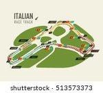 italian grand prix monza race... | Shutterstock .eps vector #513573373