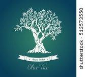 bottle sticker with olive oil... | Shutterstock .eps vector #513573550