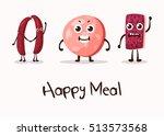 happy cartoon meat character... | Shutterstock .eps vector #513573568
