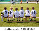 young football players. young... | Shutterstock . vector #513580378