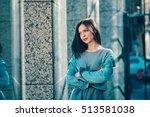 young girl posing with attitude ... | Shutterstock . vector #513581038