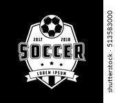 soccer emblem flat icon on...   Shutterstock .eps vector #513583000