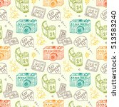 vector seamless pattern with... | Shutterstock .eps vector #513583240