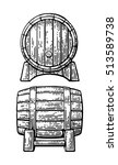 wooden barrel set. black and... | Shutterstock .eps vector #513589738