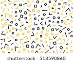 hipster fashion memphis style...   Shutterstock .eps vector #513590860