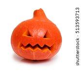 Pumpkin Head Jack On A White...
