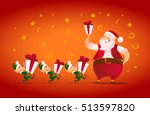 vector flat merry christmas and ... | Shutterstock .eps vector #513597820
