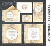christmas party invitations set ... | Shutterstock .eps vector #513602563