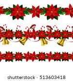 set of seamless christmas... | Shutterstock .eps vector #513603418