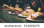 various arts of burgers from...   Shutterstock . vector #513603670