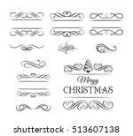 merry christmas vintage... | Shutterstock .eps vector #513607138