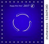 circular arrows vector icon | Shutterstock .eps vector #513609280