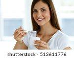 healthy lifestyle. portrait of... | Shutterstock . vector #513611776