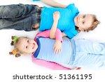 portrait of a cute children.... | Shutterstock . vector #51361195