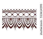floral mehendi pattern ornament | Shutterstock .eps vector #513614590