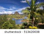 view of the rock el penol near... | Shutterstock . vector #513620038