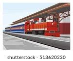 Short Passenger Train Arrives...