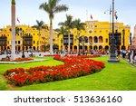 lima  peru january 31  plaza... | Shutterstock . vector #513636160